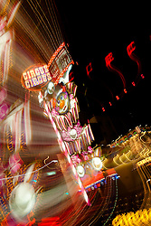 """""""Circus Circus, Reno""""  This Circus Circus sign was photographed in Downtown Reno, Nevada. The effect was obtained in camera by long exposure mixed with intentional camera movement."""
