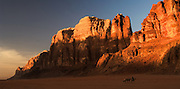 "Wadi Rum, where the spectacular desert scenes of David Lean's epic film ""Lawrence of Arabia"" were filmed, southern Jordan"
