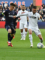 Football - 2018 / 2019 Sky Bet EFL Championship - Swansea City vs. Derby County<br /> <br /> Matt Grimes Swansea City challenged by BMason Mount Derby County, at The Liberty Stadium.<br /> <br /> COLORSPORT/WINSTON BYNORTH