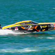 Hogs Breath prepares for lift off, Outboard Engine Class, Offshore Superboat Championships, Coffs Harbour, New South Wales, Australia