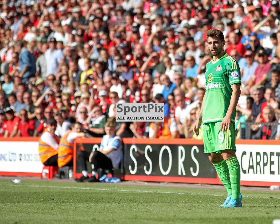 Fabio Borini watches the game with an expression of confusion During Bournemouth vs Sunderland on Saturday 19th September 2015.