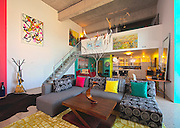 Second Avenue Lofts, suite of Sandra Young, owner of Willow Studio, for SH7 Decor article for Saskatoon Home, Fall 2010. .Artwork: .1. Untitled by Craig Leontowitcz.2. Library 2 by Jill Thomson.3. Waterlight 36 by Jay Roma Lamb.4. Where the Wild Things Grow by Jane Harrington.5. Mobile by Sandra Young.6. Back Road to Heaven 7 by Patrick Dowie.7. Green Falls by Chris Hodge.8. Ness Creek by James Wyper.9. Landscape by Hugo Alvarado.10. Tree Sculpture by Todd Young