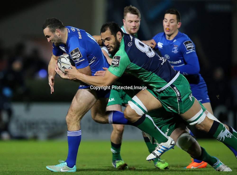 Guinness PRO12, RDS, Dublin 19/12/2014<br /> Leinster vs Connacht<br /> Leinster's Dave Kearney and George Naoupu of Connacht<br /> Mandatory Credit &copy;INPHO/Ryan Byrne