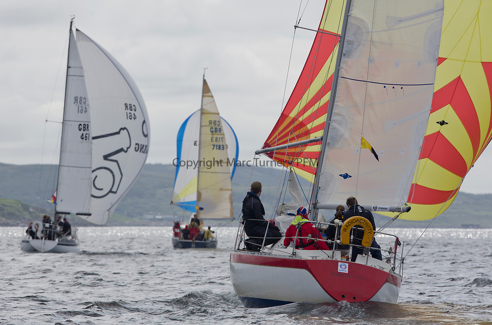 Silvers Marine Scottish Series 2017<br /> Tarbert Loch Fyne - Sailing<br /> <br /> GBR3742T, Radioactivity, Oliver Epsom, CCC, Colvic UFO 27<br /> <br /> Credit: Marc Turner / CCC