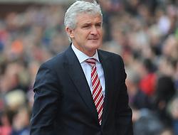 Stoke Manager, Mark Hughes - Photo mandatory by-line: Nizaam Jones/JMP - Mobile: 07966 386802 - 24/05/2015 - SPORT - Football - Stoke - Britannia Stadium - Stoke City v Liverpool - Barclays Premier League