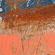 Rusty hull of an old commercial fishing boat, Gloucester harbor, Massachusetts