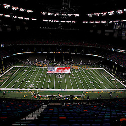January 7, 2012; New Orleans, LA, USA; A general view from the stands before the 2011 NFC wild card playoff game between the LSU Tigers and the Alabama Crimson Tide at the Mercedes-Benz Superdome. Mandatory Credit: Derick E. Hingle-US PRESSWIRE