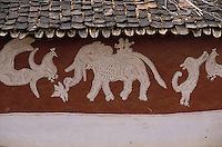 Inde - Rajasthan - Village des environs de Tonk - Peinture murale