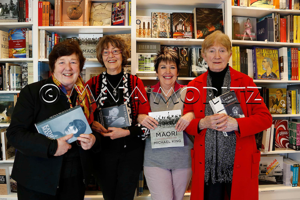 Wellington Writers Walk comes to Frankfurt, Members of the Writers Walk Committee from left Geraldine Baumann, Robyn Cooper, Rosemary Wildblood, Barbara Murison, Te Papa Store, Wellington, New Zealand