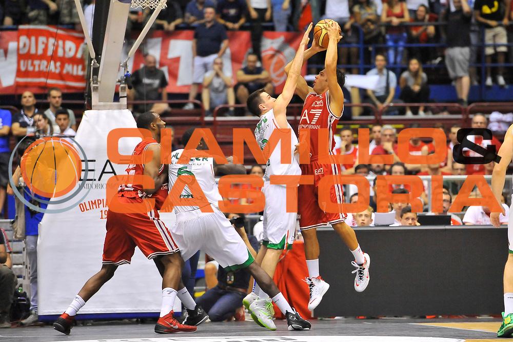 DESCRIZIONE : Campionato 2013/14 Finale GARA 7 Olimpia EA7 Emporio Armani Milano - Montepaschi Mens Sana Siena Scudetto<br /> GIOCATORE : Bruno Cerella<br /> CATEGORIA : Stoppata Sequenza<br /> SQUADRA : Olimpia EA7 Emporio Armani Milano<br /> EVENTO : LegaBasket Serie A Beko Playoff 2013/2014<br /> GARA : Olimpia EA7 Emporio Armani Milano - Montepaschi Mens Sana Siena<br /> DATA : 27/06/2014<br /> SPORT : Pallacanestro <br /> AUTORE : Agenzia Ciamillo-Castoria / Luigi Canu<br /> Galleria : LegaBasket Serie A Beko Playoff 2013/2014<br /> Fotonotizia : DESCRIZIONE : Campionato 2013/14 Finale GARA 7 Olimpia EA7 Emporio Armani Milano - Montepaschi Mens Sana Siena<br /> Predefinita :