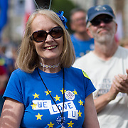 'Stop Brexit'  Thousands rally at the Parliament Square to demand a vote on the final Brexit deal on June 23 2018, London, UK.
