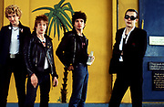 The Damned Group photosession on Alexander St West London. Stiff  Records office