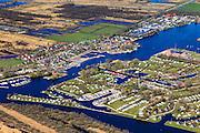 Nederland, Friesland, Gemeente Tietjerksteradeel, 01-05-2013; Camping en Bungalowpark It Wiid, gelgen op de grens van Nationaal Park De Alde Feanen (De Oude Venen), Eernewoude.<br /> Camping and recreation park in nature reserve and National Park De Alde Feanen (Old Peat Area), Eernewoude.<br /> Culture landscape, partly resulting from peat digging. Northern Netherlands.<br /> luchtfoto (toeslag op standard tarieven)<br /> aerial photo (additional fee required)<br /> copyright foto/photo Siebe Swart