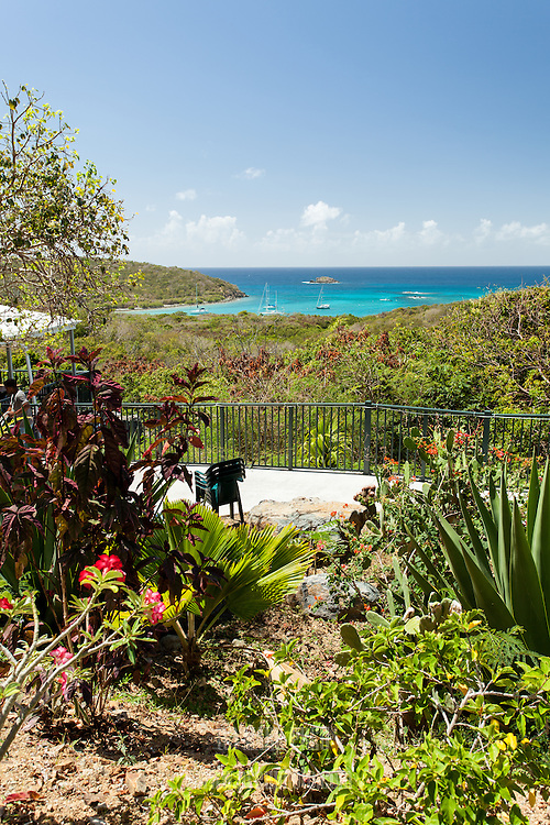 This is the view as you check in at Concordia Eco-Resort on St John in the US Virgin islands.