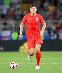 England's Harry Maguire during the FIFA World Cup 2018, round of 16 match at the Spartak Stadium, Moscow. PRESS ASSOCIATION Photo. Picture date: Tuesday July 3, 2018. See PA story WORLDCUP England. Photo credit should read: Adam Davy/PA Wire. RESTRICTIONS: Editorial use only. No commercial use. No use with any unofficial 3rd party logos. No manipulation of images. No video emulation