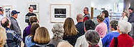 "Kenton Rowe and the crowd having a good laugh while talking about Ansel Adams Photograph ""Moonrise, Hernandez, New Mexico"" during a 2013 lecture at the Holter Museum of Art"
