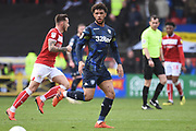 Leeds United forward Tyler Roberts (11) during the EFL Sky Bet Championship match between Bristol City and Leeds United at Ashton Gate, Bristol, England on 9 March 2019.