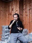 """Walter Leonardi ritratto per lo spettacolo """"A-men short"""" del Fringe Festival. Magazzino dell'Unione Culturale Franco Antonicelli, Torino."""
