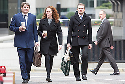 © Licensed to London News Pictures. 17/03/2014. London, UK. Rebekah Brooks arrives at The Old Bailey in London this morning, 17th March 2014 for the Phone Hacking Trial. Photo credit : Vickie Flores/LNP