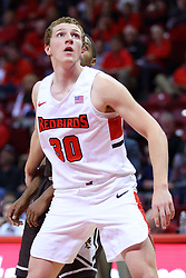 22 November 2017:  Luke Litwiller during a College mens basketball game between the Quincy Hawks and Illinois State Redbirds in  Redbird Arena, Normal IL