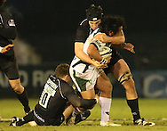 Newcastle - Sunday, February 20th, 2010: Jimmy Gopperth of Newcastle Falcons and Seilala Mapusa of London Irish during the Guinness Premiership match at Newcastle. (Pic by Steven Hadlow/Focus Images)