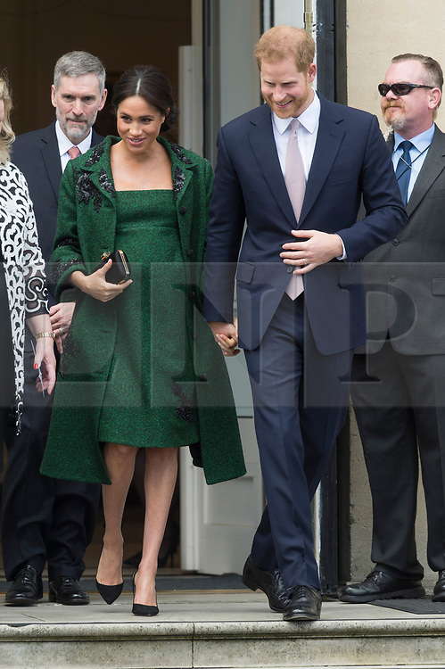© Licensed to London News Pictures. 11/03/2019. London, UK. Prince Harry Duke of Sussex and Meghan Duchess of Sussex attend an event at Canada House to mark Commonwealth Day. Photo credit Ray Tang/LNP