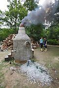 54th Biennale of Venice..ILLUMInazioni - ILLUMInations.Arsenale..Gelatin, wood fired glass melting furnace, 2011.