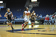 """Ole Miss' Bretta Hart (24) scores against Christian Brothers  in an exhibition basketball game at the C.M. """"Tad"""" Smith Coliseum in Oxford, Miss. on Friday, November 7, 2014. (AP Photo/Oxford Eagle, Bruce Newman)"""