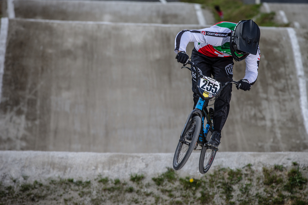 #255 (BRESCHAN Noah) SUI during round 4 of the 2017 UCI BMX  Supercross World Cup in Zolder, Belgium.