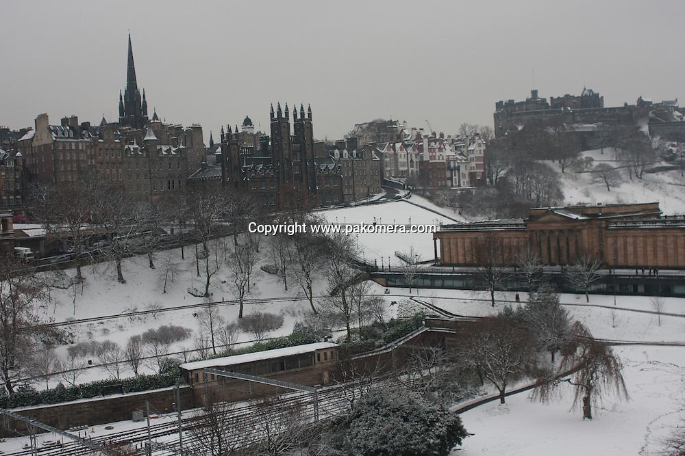 Edinburgh, Scotland 9th February 2009. General view from Scott Monument in Princess Street. Photo by Pako Mera