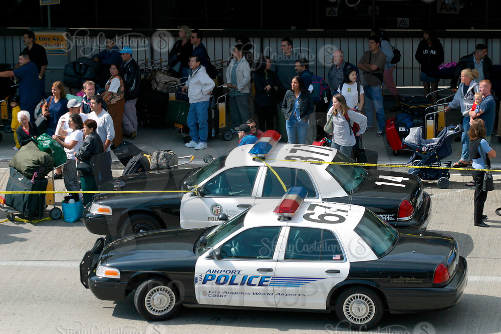 Jul 04, 2002; Los Angeles, CA, USA; Stranded passengers at Los Angeles International airport adjacent to the Tom Bradley International terminal. <br />