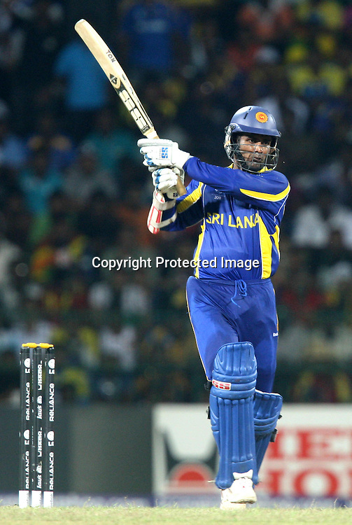 Sri Lankan batsman Upul Tharanga plays a shot against England during the ICC Cricket World Cup - 4th Quarter-Final Played at R Premadasa Stadium, Colombo
