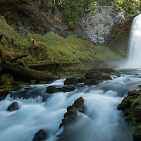 Sahalie Falls is a popular waterfall located off of the McKenzie River Highway in Linn County, Oregon.