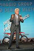 Jay Leno stood up for about an hour entertaining a huge crowd of Aprilia, Moto Guzzi and Vespa Dealers at Piaggio Group Usa's 2009 Dealer Show held this year at Indian Wells Hyatt Hotel in Indian Wells, Ca. September 28th, 2008.