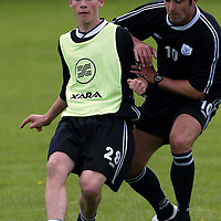 St Johnstone training...12.07.04<br />Kevin Moon<br /><br />Picture by Graeme Hart.<br />Copyright Perthshire Picture Agency<br />Tel: 01738 623350  Mobile: 07990 594431