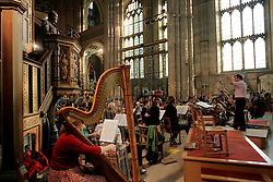 UK ENGLAND CANTERBURY 15OCT05 - Classical orchestra rehearsal inside Canterbury Cathedral...jre/Photo by Jiri Rezac..© Jiri Rezac 2005.Contact: +44 (0) 7050 110 417.Mobile: +44 (0) 7801 337 683.Office: +44 (0) 20 8968 9635..Email: jiri@jirirezac.com.Web: www.jirirezac.com..© All images Jiri Rezac 2005 - All rights reserved.