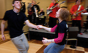 O.U. Jitterbug Club members Daniel Hoy and Gail Clendenin dance together  during a Jitterbug Club dance at Baker Center on Friday, 2/23/07.