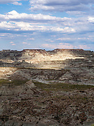 "Image from the ""badlands"" area known as Skull Creek Rim, Red Desert, Sweetwater County, Wyoming, USA."