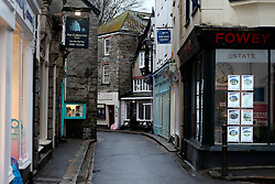 UK ENGLAND FOWEY 19FEB15 - Town centre of Fowey, Cornwall, England. Fowey, a small fishing and harbour village was the living place of famous English writer Daphne Du Maurier and many of her novels are based here.<br /> <br /> jre/Photo by Jiri Rezac<br /> <br /> © Jiri Rezac 2015