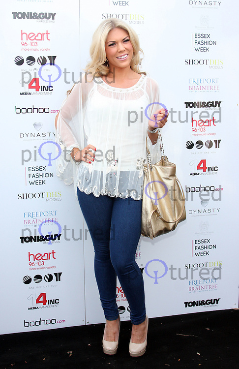 Frankie Essex Arrivals at Essex Fashion Week show at Woolston Manor Country Club, Chigwell, Essex - October 29th 2011....Photo by Jill Mayhew..