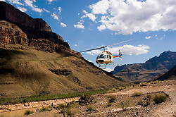 Scenic, Grand Canyon, Helicopter over Colorado River, Arizona, AZ, cliffs, landscape, horizontal, arid, erosion, nature, muddy water, Image nv456-18768.Photo copyright: Lee Foster, www.fostertravel.com, lee@fostertravel.com, 510-549-2202