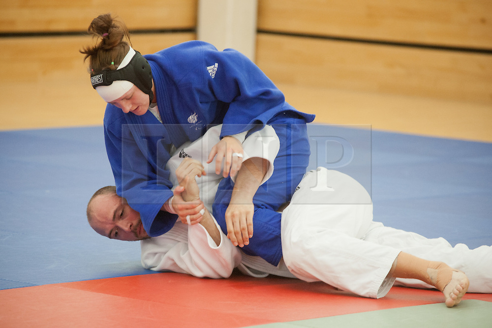 © London News Pictures. 23/08/2012. Dartford, Kent. Judo Paralympian Sam Ingram in practice. Britain's leading judokas from ParalympicsGB in training at their national base in Dartford, Kent before competeing in London2012. Picture credit should read Manu Palomeque/LNP