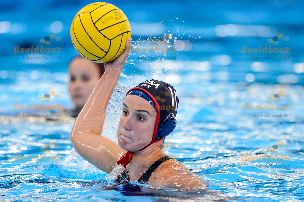 06-07-2018: Waterpolo: Nederland v USA: Rotterdam<br /> <br /> (L-R)  during the waterpolomatch between ladies The Netherlands vs USA at Zwemcentrum Rotterdam, the Netherlands<br /> <br /> Spido Dutch Waterpolo Trophy 2018<br /> <br /> Foto/Photo: Gertjan Kooij