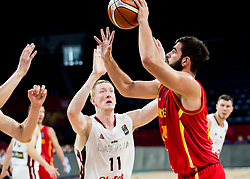 Rolands Smits of Latvia vs Bojan Dubljevic of Montenegro during basketball match between National Teams of Latvia and Montenegro at Day 11 in Round of 16 of the FIBA EuroBasket 2017 at Sinan Erdem Dome in Istanbul, Turkey on September 10, 2017. Photo by Vid Ponikvar / Sportida