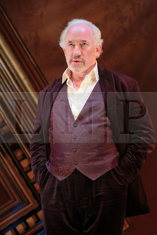 """© Licensed to London News Pictures. 13/09/2012. London, England. Actor Simon Callow performs the one-man show """"The Mystery of Charles Dickens"""" at the Playhouse Theatre from 13 September to 10 November. Callow brings Dickens' story to life, as well as 49 of his well-known characters from Bill Sikes to Miss Havisham. The Mystery of Charles Dickens first premiered in 2000 before being revived in 2002. This production marks the 200th anniversary of the birth of Charles Dickens. The play was written by Peter Ackroyd. Photo credit: Bettina Strenske/LNP"""