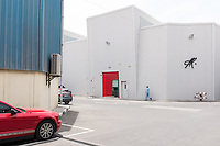 DUBAI, UAE - APRIL 30, 2016: In 2015, Alserkal Avenue extended its warehouses. Established in Dubai' Al Quoz Industrial Area since 2007, it has become a major arts hub in the region.
