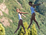 CAGNOTTO Tania DALLAPE' Francesca ITA gold medal<br /> Bolzano, Italy <br /> 22nd FINA Diving Grand Prix 2016 Trofeo Unipol<br /> Diving<br /> Women's 3m synchronised springboard final <br /> Day 01 15-07-2016<br /> Photo Giorgio Perottino/Deepbluemedia/Insidefoto