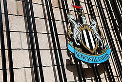 A Newcastle United Crest on the Old St James' Park Gates - Photo mandatory by-line: Rogan Thomson/JMP - 07966 386802 17/08/2014 - SPORT - FOOTBALL - Newcastle, England - St James' Park - Newcastle United v Manchester City - Barclays Premier League.