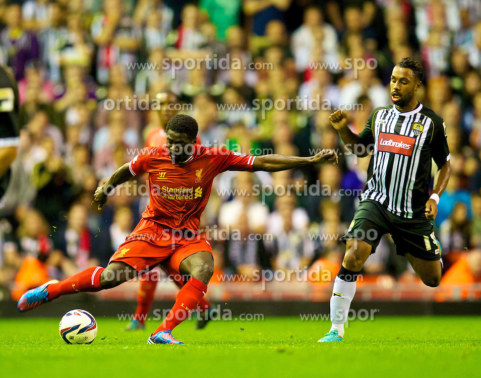 27.08.2013, Anfield, Liverpool, ENG, League Cup, FC Liverpool vs Notts County FC, 2. Runde, im Bild Liverpool's Kolo Toure in action against Notts County during the English League Cup 2nd round match between Liverpool FC and Notts County FC, at Anfield, Liverpool, Great Britain on 2013/08/27. EXPA Pictures &copy; 2013, PhotoCredit: EXPA/ Propagandaphoto/ David Rawcliffe<br /> <br /> ***** ATTENTION - OUT OF ENG, GBR, UK *****