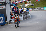 Keegan Swenson (USA) finishes the Team Relay  at the 2018 UCI MTB World Championships - Lenzerheide, Switzerland